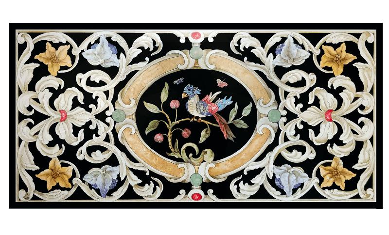 Tavolo Ornato e pappagallo